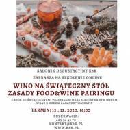 Wino na świąteczny stół – zasady Food&Wine pairingu