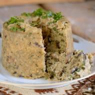 Budyń z ryżu z pieczarkami – zapiekanka z ryżu z pieczarkami
