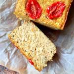 Pasztet z selera, batatów, z ryżem pełnoziarnistym, pomidorkami i nutą imbiru.