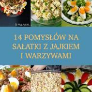 14 pomysłów na sałatki z jajkiem i warzywami