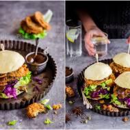 Pampuchy z orientalnym bakłażanem / Steamed buns with oriental eggplant