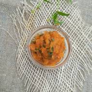 Pasta z pieczonej dyni i suszonych pomidorów