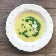 Ziemniaczana zupa krem z pietruszkowym pesto