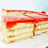 Łatwe ciasto bez pieczenia z galaretką