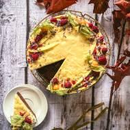 Ciasto musowe z mango i białą czekoladą