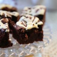 Szybkie brownie z wiśniami, bardzo proste