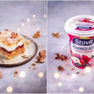 Jabłecznik z marmoladą różaną / Apple pie with rose marmalade