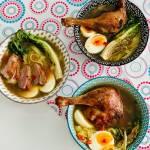 Zupa pho z pieczona kaczka