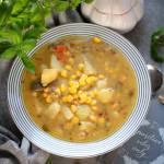 Zupa ziemniaczana z kukurydzą – krok po kroku