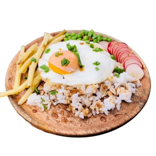 Jajka sadzone z ryżem w imbirowym sosie