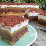 Ciasto TRIO-czekoladowo-śmietankowe z jabłkami bez pieczenia  +FILM