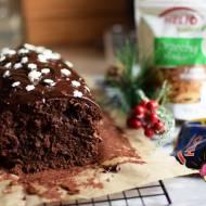 Ciasto czekoladowe z orzechami i żurawiną