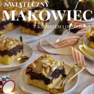Makowiec na kruchym spodzie z orzechami w karmelu. Łatwe ciasto na Święta i Nowy Rok!