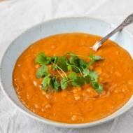 Zupa dyniowa z ciecierzycą