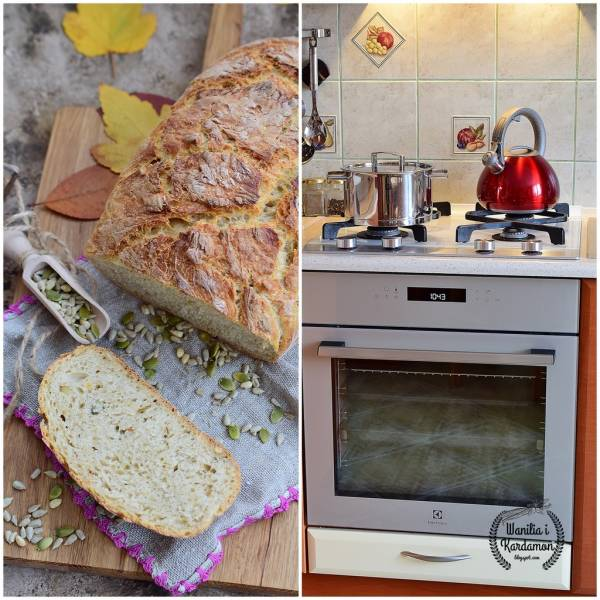 Chleb z garnka z ziarnami i recenzja piekarnika Electrolux  z termosondą  SenseCook LOE7C31S