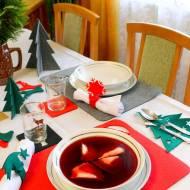 Barszcz czerwony przepis i świąteczne dekoracje z filcu