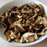 Zupa grzybowa z suszonych borowików i podgrzybków