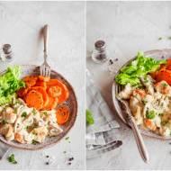 Indyk w sosie pieczarkowo-musztardowym / Turkey in mushroom and mustard sauce