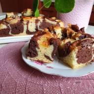 Dwukolorowe ciasto z jabłkami