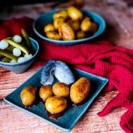 Karmelizowane ziemniaki ze śledziem