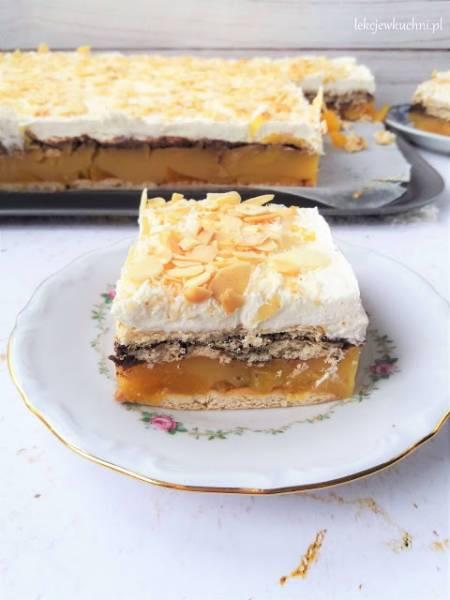 Ciasto Arkadia bez pieczenia / Peach and Mascarpone No Bake Cake