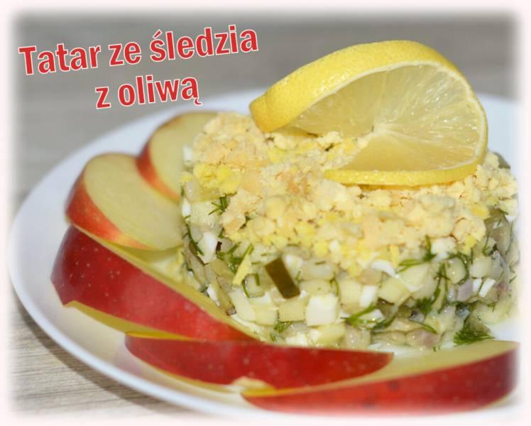 Tatar ze śledzia z oliwą