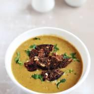 Kremowa zupa z suszonych grzybów