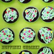 Muffinki choinki na Boże Narodzenie