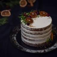 Piernikowy tort z orange curd