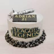 Tort League of Legends pienikowo-malinowy
