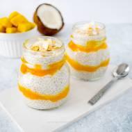 Kokosowy pudding chia z mango