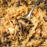 Świąteczna kapusta z grzybami (4 składniki)