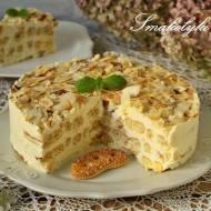 Torcik Napoleon na ciastkach francuskich