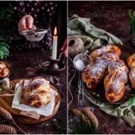 Piernikowe drożdżówki z nadzieniem migdałowym / Gingerbread buns with almond filling