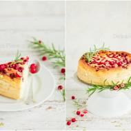 Sernik z żurawiną / Cheesecake With Cranberry