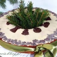 Tort piaskowy świąteczny