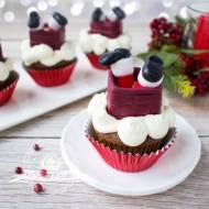 Muffinki - Mikołaj w kominie