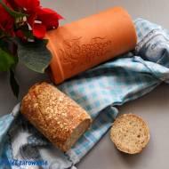 Chleb pszenno - orkiszowy z czosnkiem niedźwiedzim ze słoika