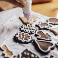 Czekoladowe ciasteczka świąteczne