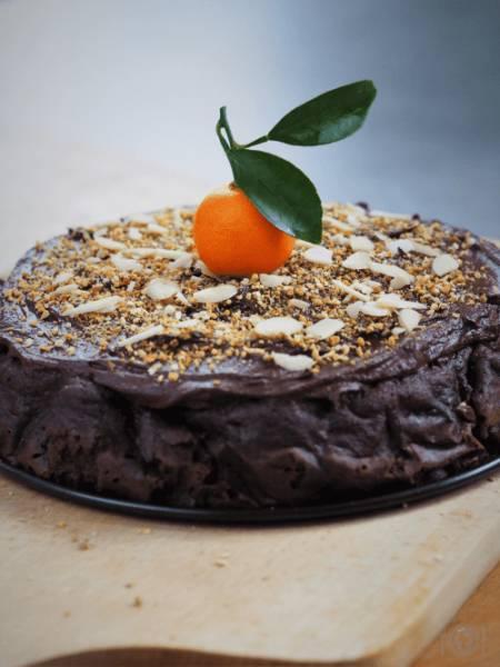 Keto ciasto czekoladowo – mandarynkowe (Paleo, LowCarb)