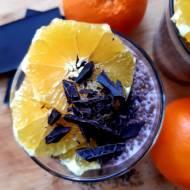 Czekoladowo pomarańczowy pudding chia. Pyszne śniadanie lub deser.