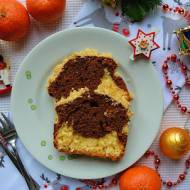Świąteczne ciasto dwukolorowe kokosowo-czekoladowe