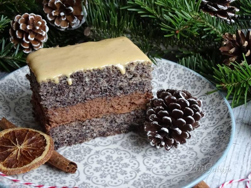 Makowe ciasto z kremem czekoladowym
