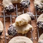 Ciasteczka migdałowe rożki (4 składniki)