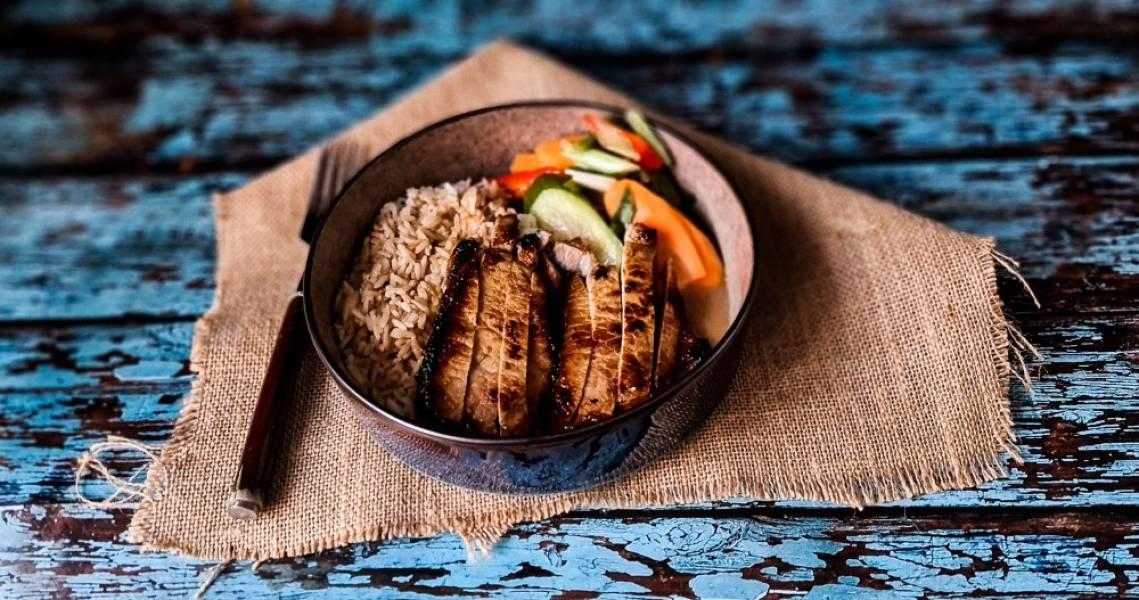 Wieprzowina z ryżem na śniadanie