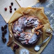 Wieniec drożdżowy z marcepanem i żurawiną na skandynawską nutę