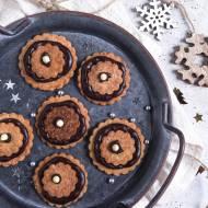 Owsiane ciasteczka z kremem czekoladowym