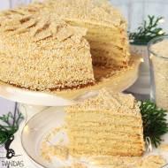 Ciasto warstwowe z kremem sezamowym (bez glutenu, bez laktozy i cukru białego)