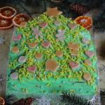 Ciasto choinka z mandarynkami i śmietaną