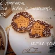 Kruche, cynamonowe ciasteczka - idealne do świątecznych paczuszek